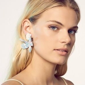 Lele Sadoughi Small Paper Lilly Earring